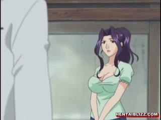 ママ 日本語 エロアニメ gets squeezed 彼女の bigboobs