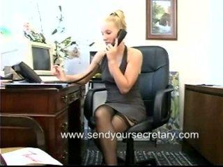 kancelář sex, tajemník, kancelář kurva