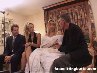 Bride-to-be got sebuah menjijikan ejakulasi di wajah, gratis facesitting butts porno video