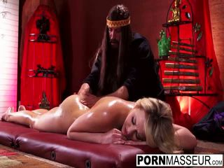 Guru rubs oil drills huge dick into wet pussy on hottie Mia