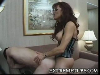 Lingeried ts milf fucks a guy