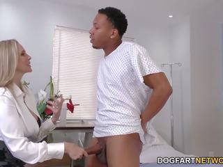 쿠거 의사 julia ann cures 검정 수탉, 포르노를 f6