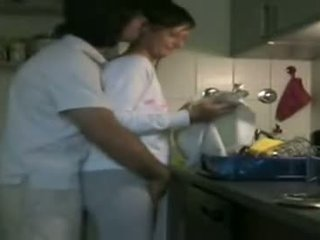 Horny Couple Having Sex In The Kitchen