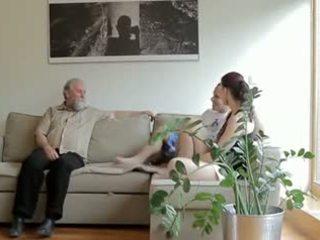 I eksituar i vjetër njeri fucks son's e dashura