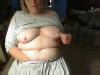 Kinky grandma playing pussy