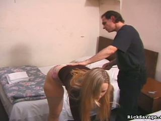 Helpless girl gets abused