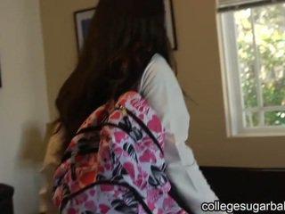 ruskeaverikkö, yhteiskoulun, college girl