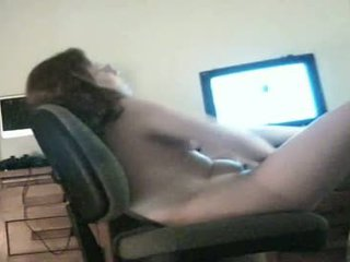 Girl Masturbating At Computer Desk - Hidden Cam Vo