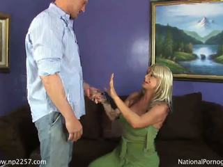 Busty blonde MILF banged by huge ragin...
