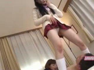 יפה seductive קוריאני נערה מזיין