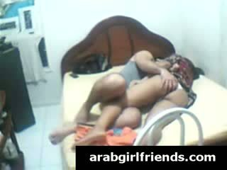 Very naughty brunette Arab whore gets her foreplay caught by spy