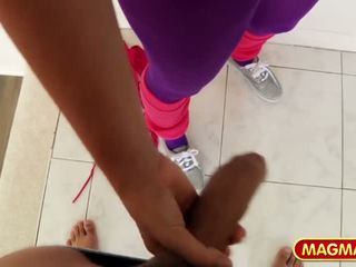 Natural Busty Fitness Teen in Yoga Pants, Porn 12