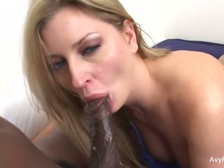 Blonde hottie Avy is craving some BBC