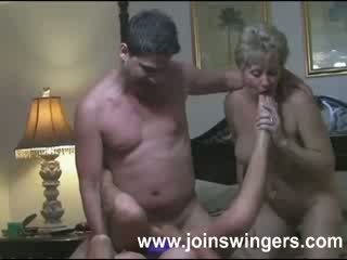 swingers, nagymama, idős