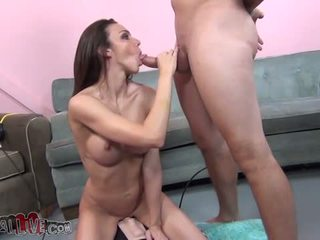 Tiffany tyler rides ang sybian at masturbates