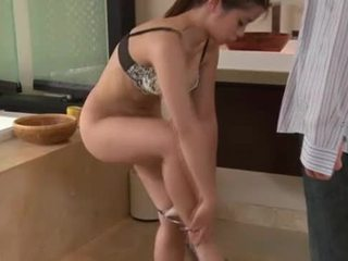Asian masseuse showers with client