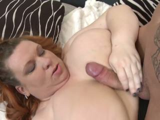 Big Busty Mom Seduce Skinny Young Son,...