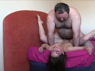 Fat guy and cute babe
