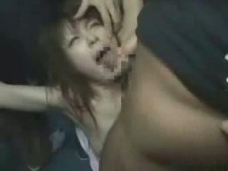 japoński, dziewczyna, groped