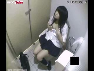 Tenåring asiatisk fanget masturbate i offentlig cr