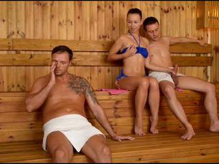 Taylor sands sauna throat párty