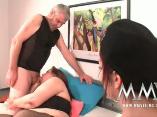 MMV Films German slut helping out a fat mature wife to orgas