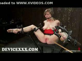 Verbunden adrianna nicole gets flogged und muschi toyed