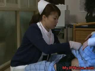 Super sexy Japanese nurses sucking