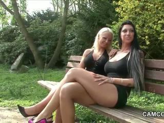 2 neamt adolescență futand public în park cu voieur