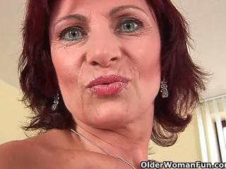 Granny with hard nipples and hairy pus...
