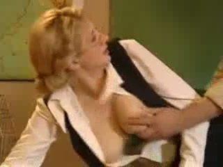 Blond Teacher Fuck in School