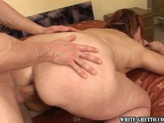 brünette, bbw, anal sex
