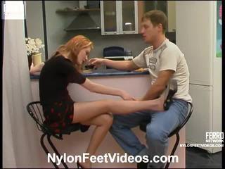 Ninette ו - bertram קינקי גרביוני נשים footsex