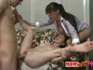 sexe de groupe, grosse bite, trio