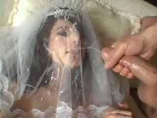 Hot Bride Jackie Ashe Takes A Biggest And Messy Facial Cumsplash