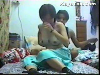 Malay chinesa casal sexo sob escondido câmara