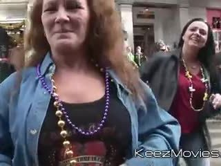 flashing, grandma, babe, big tits, tattoo, public