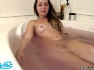 Hot Teen Lesbian Gives Her Pussy a Massage and Fucks Her Dildo in the Tub Video
