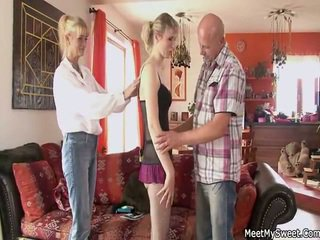 Old Mommy And Dad Seduce And Pounde Th...