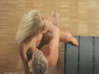 Blond chick fucks her hungry boyfriend
