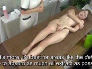 Subtitled enf cfnf 일본의 동성애의 clitoris 마사지 clinic