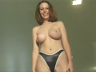 Sexy slut shows off her incredible wet titts and pussy