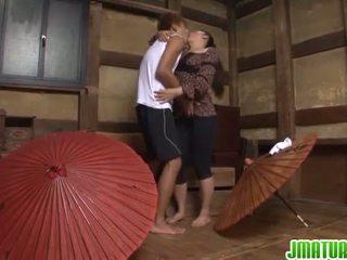 japoński, masturbacja, dojrzały