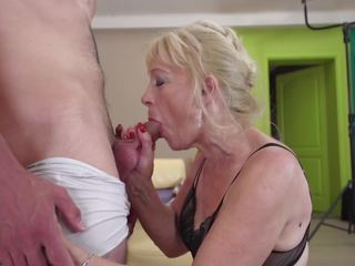 Old Grandmother Suck and Fuck Young Bo...