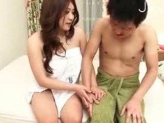 japon, büyük göğüsler, yalamak