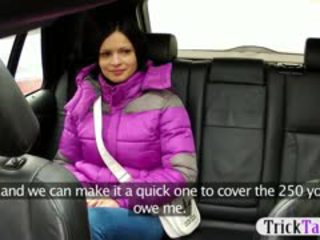 Horny Gal Banged In The Backseat By The Pervert Taxi Driver