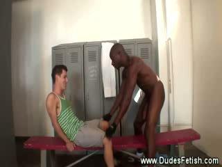 Ebony rules over worthless white slave