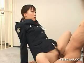 Weird Asian Sex With Hot Police Woman Fucking A Male