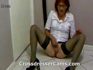crossdresser, задник, преобличане