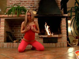 Sabrina Blonde Polishes Her Spicy Vulva Then Bares Unclothed